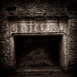 Fireplace in Medieval Castle Ruins