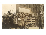 Truck in Parade with Flags