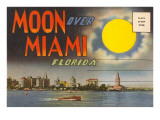 Postcard Folder  Moon over Miami  Florida