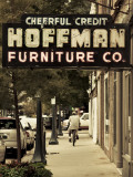 USA  Alabama  Mobile  Dauphin Street  Old Neon Sign for Hoffman Furniture