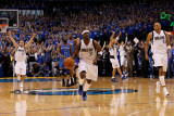Oklahoma City Thunder v Dallas Mavericks - Game Five  Dallas  TX - MAY 25: Jason Terry and Jose Jua