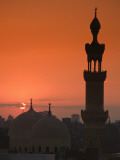 Egypt  Cairo  Islamic Quarter  Silhouette of Minarets and Mosques