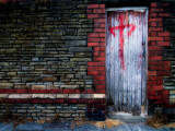 Derelict Doorway with Graffiti