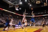 Dallas Mavericks v Miami Heat - Game One  Miami  FL - MAY 31: Jose Juan Barea and Udonis Haslem