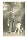 Man with Faithful St Bernard