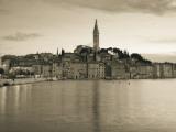 Croatia  Istria  Rovinj  Rovinj Town View with the Cathedral of St Euphemia