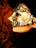 Woman with Golden Mask by Helena M Damsel