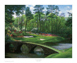 The 12th At Augusta Reproduction d'art par Larry Dyke