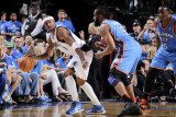Oklahoma City Thunder v Dallas Mavericks - Game Five  Dallas  TX - MAY 25: Jason Terry and James Ha