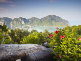 View of Ao Ton Sai and Ao Lo Dalam Beaches  Ko Phi Phi Don  Thailand