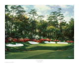 The 13th At Augusta Reproduction d'art par Larry Dyke