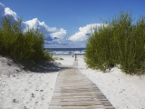 Boardwalk Leading to Beach  Liepaja  Latvia