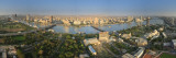 Egypt  Cairo  River Nile and City Skyline Viewed from Cairo Tower  Panoramic View