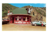 Hat-Shaped Miner's Hat Drive-In  Roadside Retro