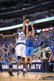Oklahoma City Thunder v Dallas Mavericks - Game Five  Dallas  TX - MAY 25: Nick Collison and Brenda