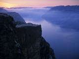 Preikestolen (Pulpit Rock) at Sunset  Lysefjorden  Norway