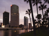 USA  Florida  Tampa  Skyline from Hillsborough River