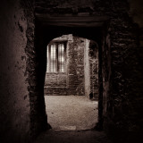 Doorway in Medieval Castle Ruins