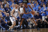 Oklahoma City Thunder v Dallas Mavericks - Game Five  Dallas  TX - MAY 25: Kevin Durant and Jason K