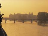 Sunset View of River Seine  Paris  France