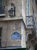 Street Sign and Building  Rive Guache  Paris  France