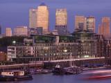England  London  Docklands  Canary Wharf Skyline