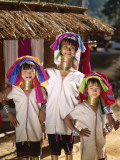 Hill Tribe People / Padaung Tribe / Long-Neck Women  Mae Hong Son  Golden Triangle  Thailand