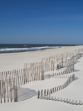 USA  New York  Long Island  the Hamptons  Westhampton Beach  Beach Erosion Fence