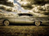 Buick Roadmaster 1958 : automobile de collection Papier Photo par Stephen Arens