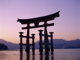 Miyajima Island / ItsUKushima Shrine / Torii Gate / Sunset  Honshu  Japan