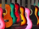 USA  California  Los Angeles  El Pueblo De Los Angeles  Guitars