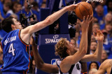 Oklahoma City Thunder v Dallas Mavericks - Game Five  Dallas  TX - MAY 25: Nick Collison and Dirk N