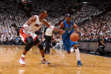 Dallas Mavericks v Miami Heat - Game One  Miami  FL - MAY 31: Jason Terry and Chris Bosh