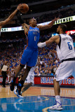 Oklahoma City Thunder v Dallas Mavericks - Game Five  Dallas  TX - MAY 25: Russell Westbrook  Shawn