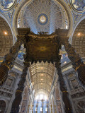 Detail of Bernini's Baroque Baldachin  St Peter's Basilica  Rome  Italy