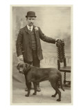 Man with his Black Labrador
