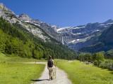 Walker  Cirque De Gavarnie  Pyrenees National Park  Hautes-Pyrenees  Midi-Pyrenees  France