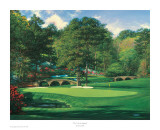 The 11th At Augusta Reproduction d'art par Larry Dyke