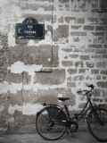 Bicycle and Street Sign  Paris  France