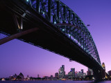 Sydney Harbour Bridge at Dusk   Sydney  New South Wales  Australia