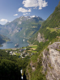 Cruise Ships  Geirangerfjord  Western Fjords  Norway