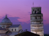 Leaning Tower (Torre Pendente) and Duomo / Night View  Pisa  Tuscany (Toscana)  Italy