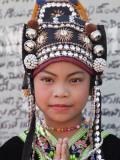 Thailand  Chiang Mai  Chiang Mai Flower Festival  Akha Hilltribe Girl