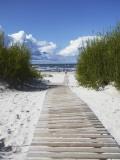 Boardwalk Leading to Beach  Liepaja  Latvia