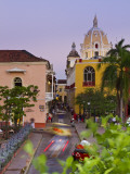 Colombia  Bolivar  Cartagena De Indias  Plaza Santa Teresa  Horse Cart and San Pedro Claver Church