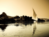 Egypt  Aswan  Felucca and Nile River
