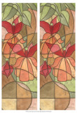 2-Up Stain Glass Floral I