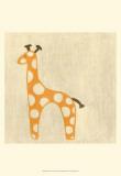 Best Friends - Giraffe Reproduction d'art par Chariklia Zarris