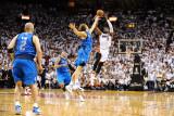 Dallas Mavericks v Miami Heat - Game Two  Miami  FL - JUNE 2: Dwyane Wade and Dirk Nowitzki