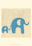 Best Friends - Elephants Reproduction d'art par Chariklia Zarris
